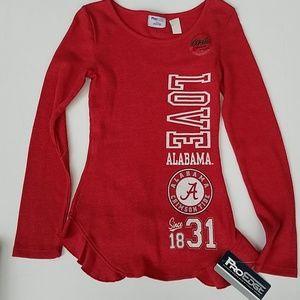 Alabama thermal girls shirt 10/12 red